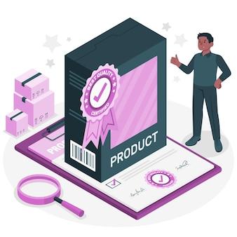 Ilustração do conceito de qualidade do produto