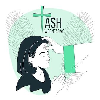 Ilustração do conceito de quarta-feira de cinzas