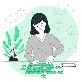 Ilustração do conceito de quebra-cabeça