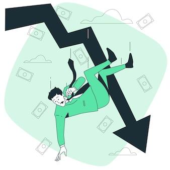 Ilustração do conceito de queda