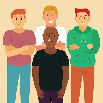 Ilustração do conceito de racismo
