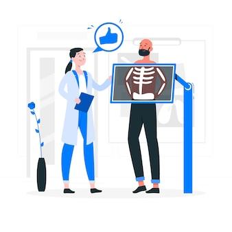 Ilustração do conceito de radiografia