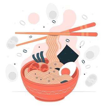 Ilustração do conceito de ramen