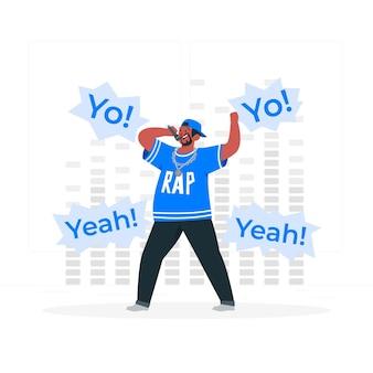 Ilustração do conceito de rapper