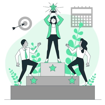 Ilustração do conceito de realização