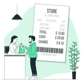 Ilustração do conceito de recibo