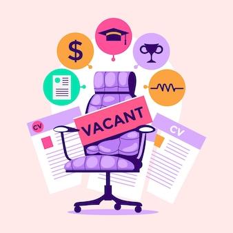 Ilustração do conceito de recrutamento