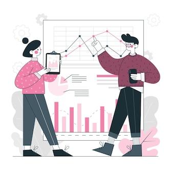 Ilustração do conceito de relatório
