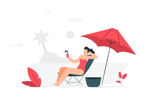 Ilustração do conceito de relaxamento