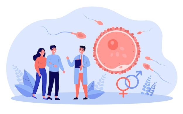 Ilustração do conceito de reprodução humana e planejamento familiar