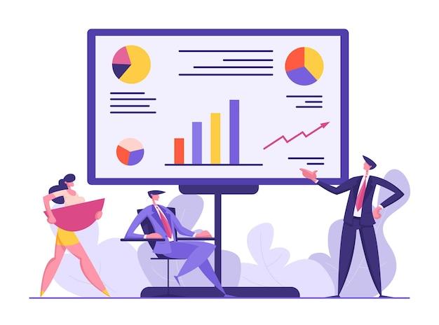 Ilustração do conceito de reunião de executivos de negócios