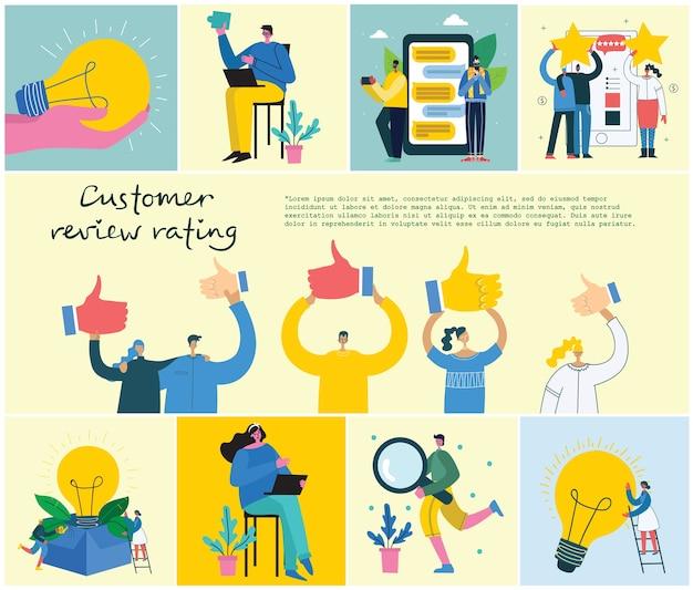Ilustração do conceito de revisão online