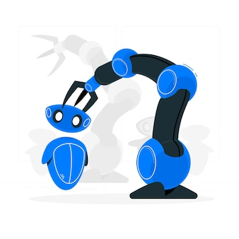 Ilustração do conceito de robótica