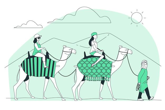 Ilustração do conceito de rota da seda