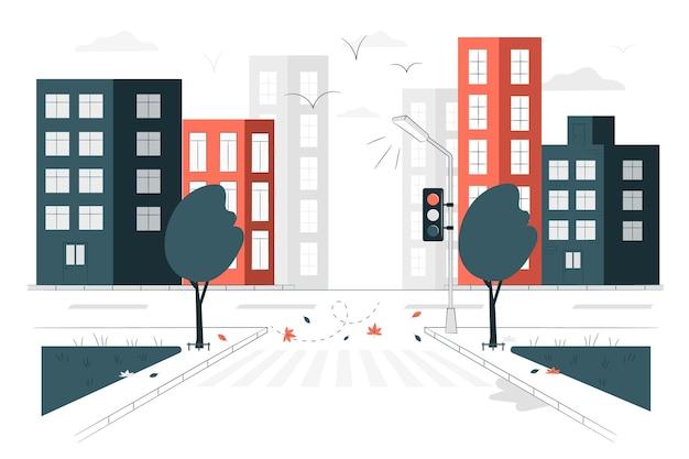 Ilustração do conceito de rua vazia