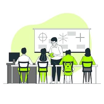 Ilustração do conceito de sala de aula