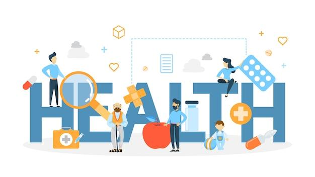 Ilustração do conceito de saúde.