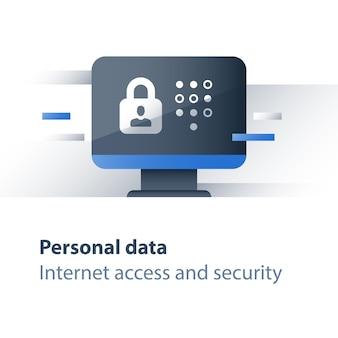 Ilustração do conceito de segurança de dados pessoais
