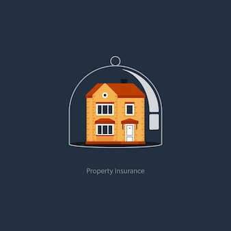 Ilustração do conceito de seguro residencial