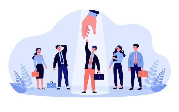 Ilustração do conceito de seleção profissional