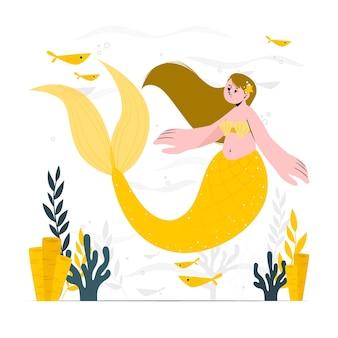 Ilustração do conceito de sereia