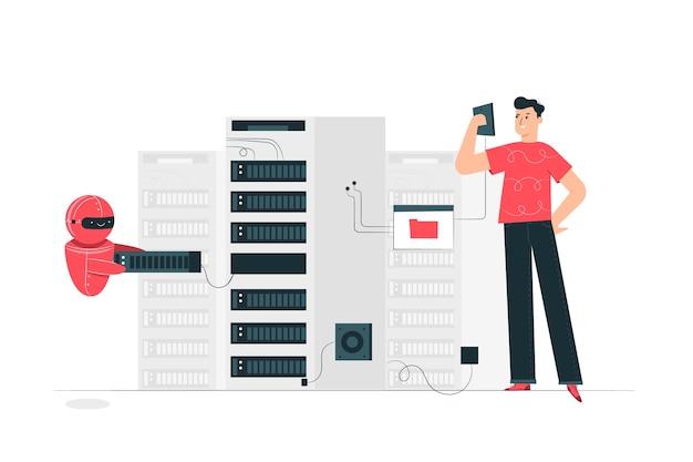 Ilustração do conceito de servidor
