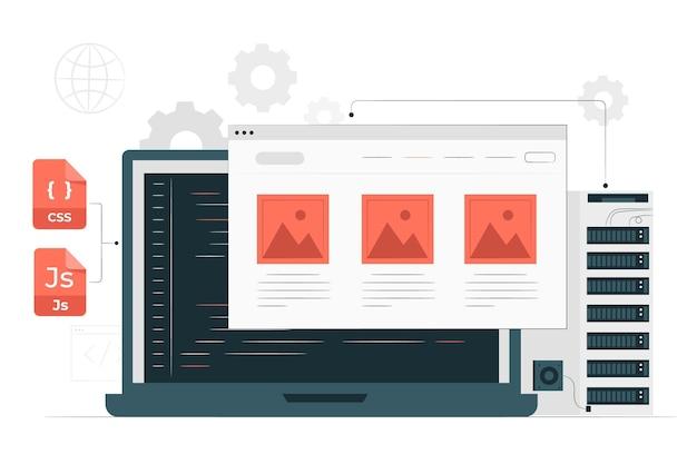 Ilustração do conceito de site estático