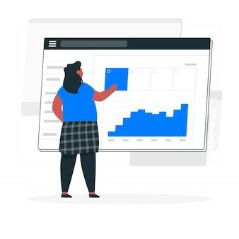 Ilustração do conceito de sitemap