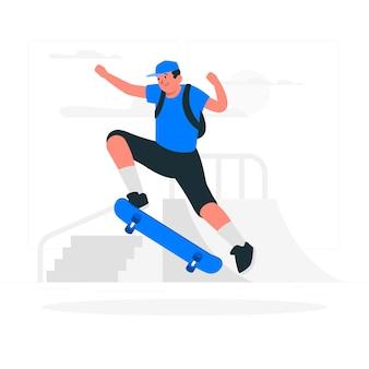 Ilustração do conceito de skate