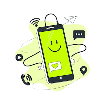 Ilustração do conceito de smartphone