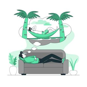 Ilustração do conceito de sonhador