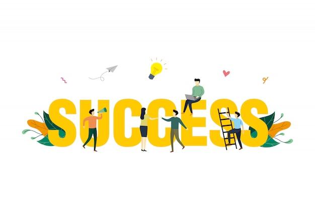 Ilustração do conceito de sucesso