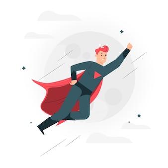 Ilustração do conceito de super-herói