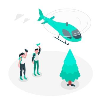 Ilustração do conceito de suporte aéreo