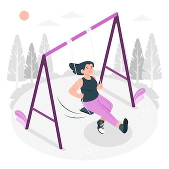 Ilustração do conceito de swing