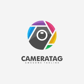 Ilustração do conceito de tag de câmera