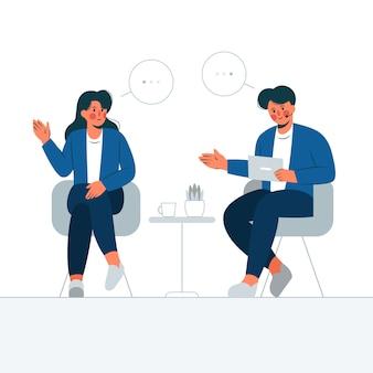 Ilustração do conceito de talk show