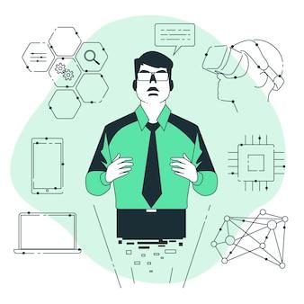 Ilustração do conceito de tecnologia visionária