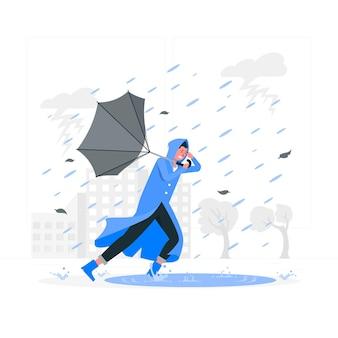Ilustração do conceito de tempestade