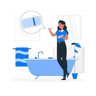 Ilustração do conceito de teste de gravidez