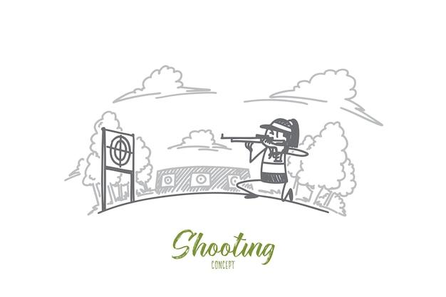 Ilustração do conceito de tiro Vetor Premium