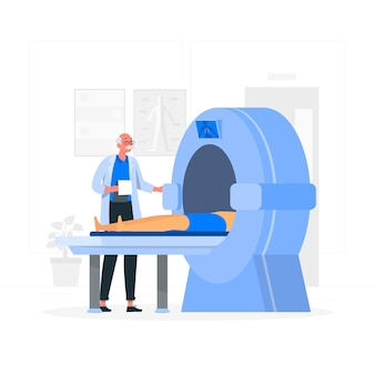 Ilustração do conceito de tomografia computadorizada