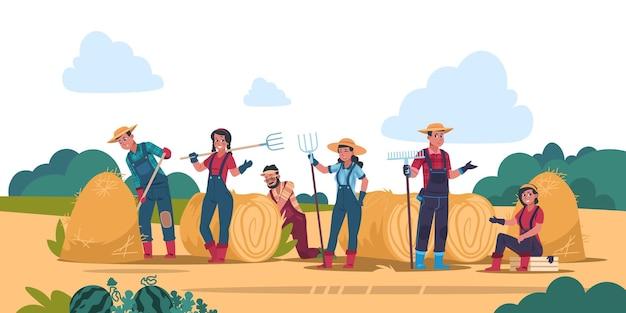 Ilustração do conceito de trabalho agrícola
