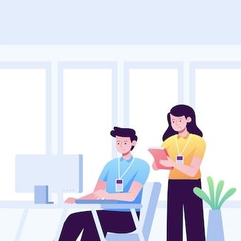 Ilustração do conceito de trabalho de estágio