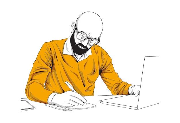 Ilustração do conceito de trabalho remoto