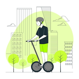 Ilustração do conceito de transporte elétrico (não um carro)