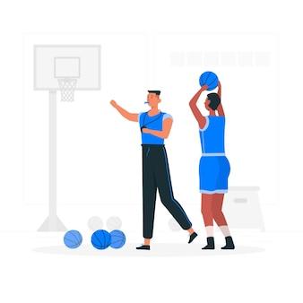Ilustração do conceito de treinador