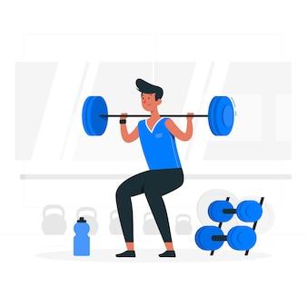 Ilustração do conceito de treino