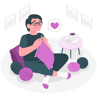 Ilustração do conceito de tricô