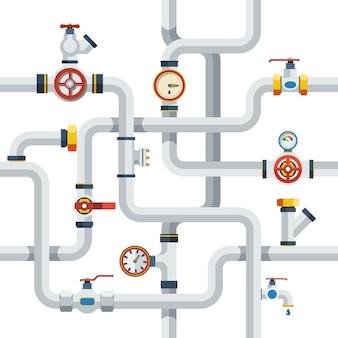 Ilustração do conceito de tubos